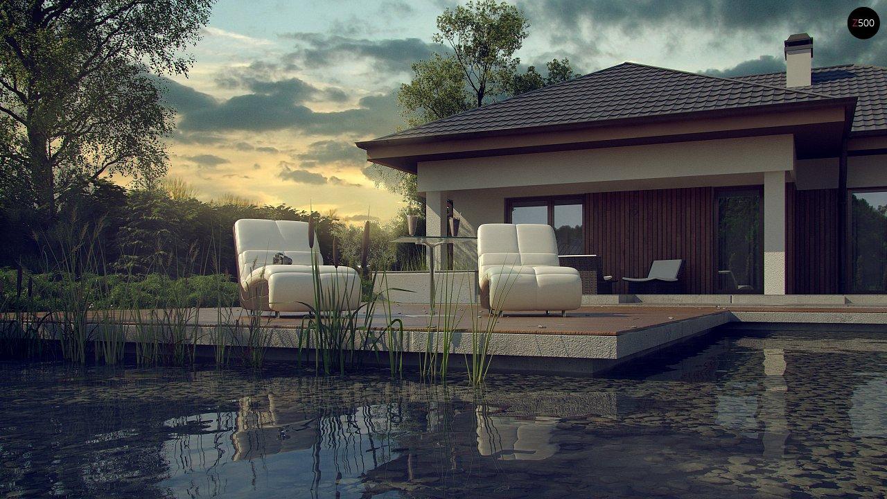 Лучший проект одноэтажного дома 149 м2 в современном стиле с гаражом Z289