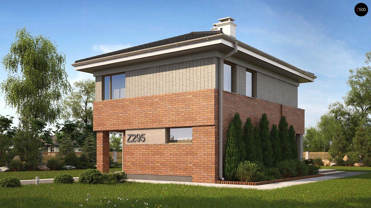 Лучший проект двухэтажного дома до 113 м2 в классическом стиле без гаража Z295k