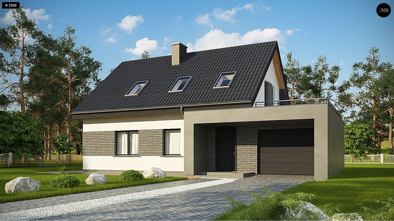 Проект дома Z347 - 1