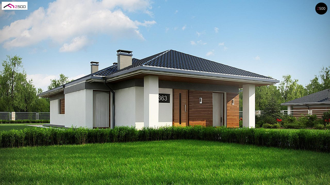 Проект дома Z363 - 1