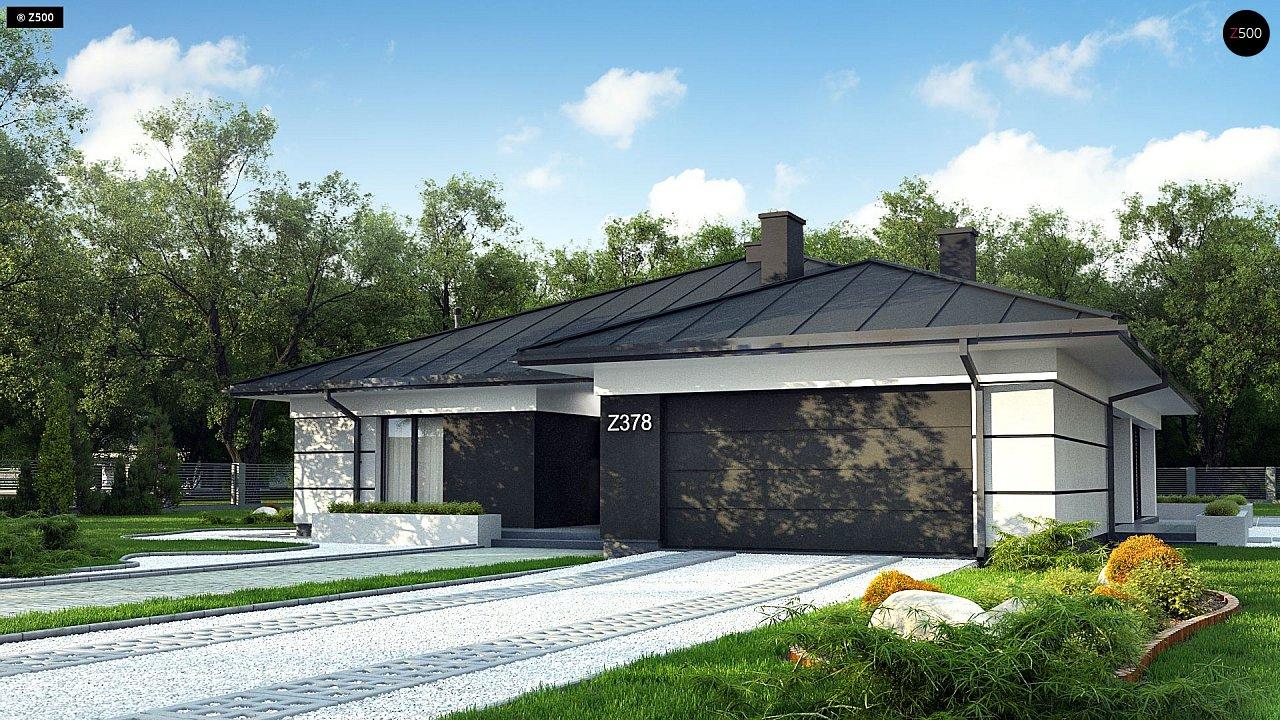 Проект одноэтажного дома с гаражом z378