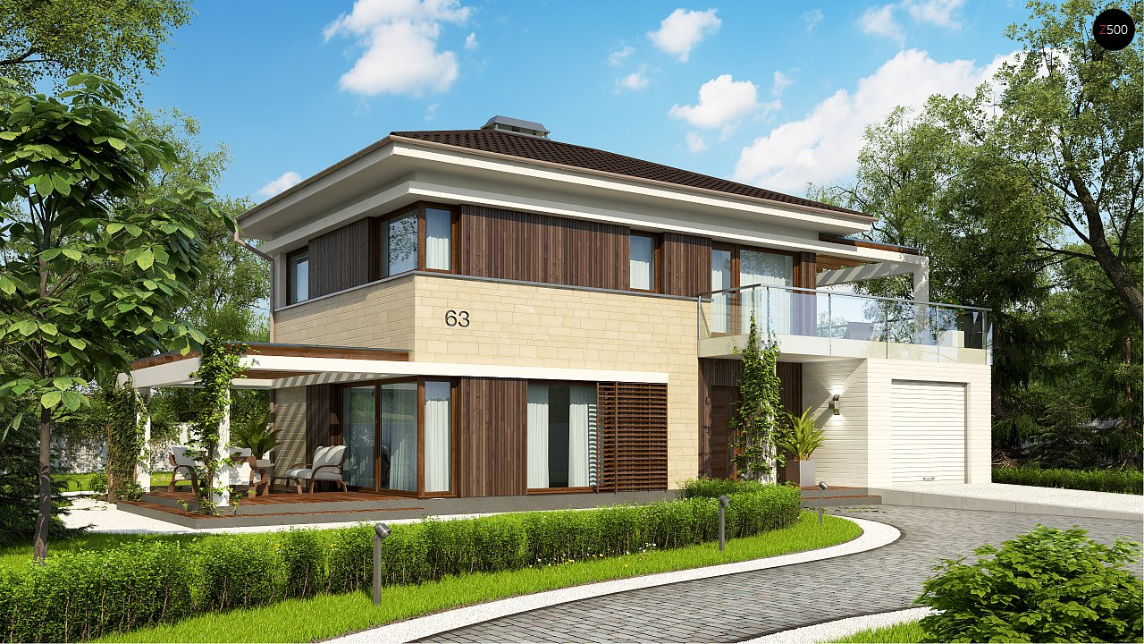 Проект дома Zx63 B