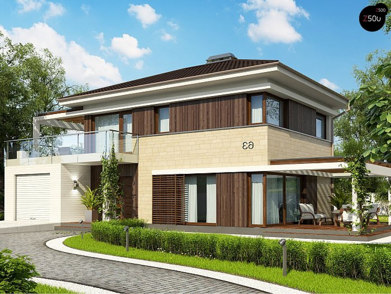 Проект дома Zx63 C