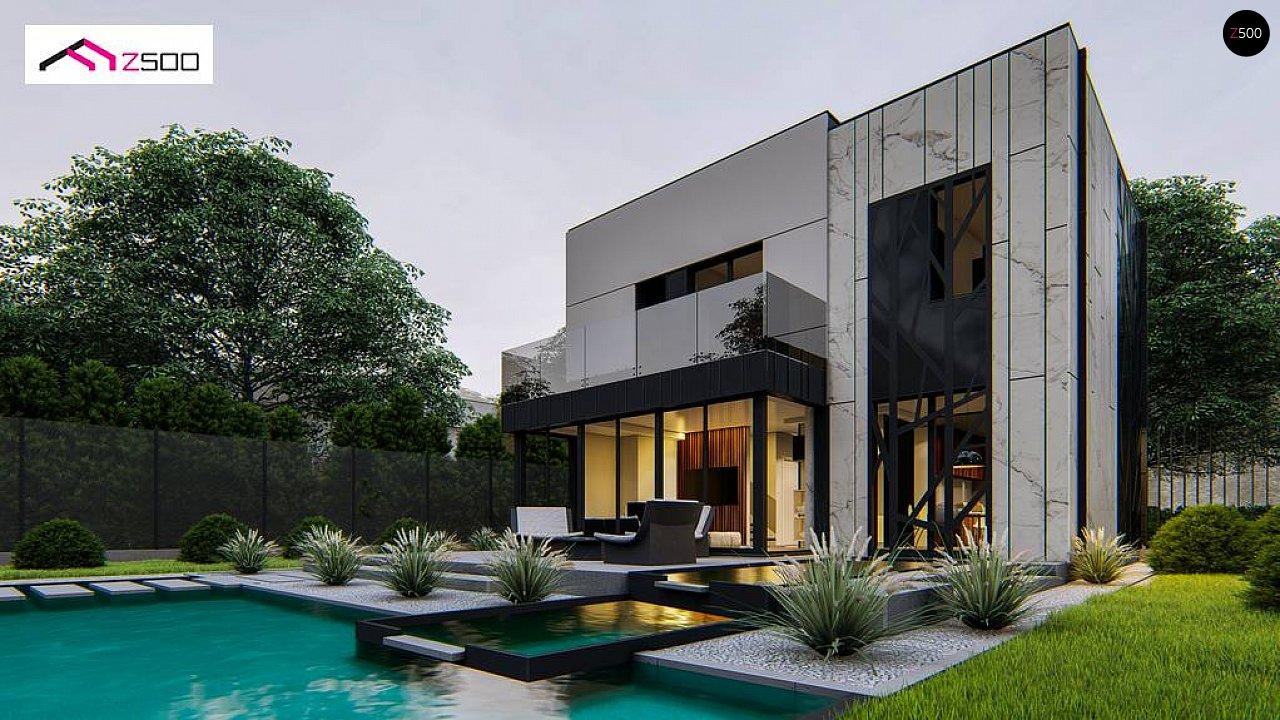 Проект современного двухэтажного дома 10х10 zx90