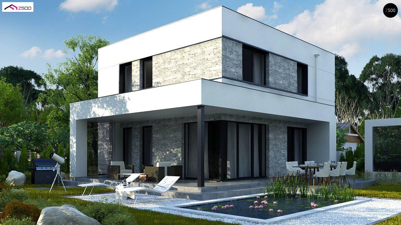Лучший проект двухэтажного дома до 147 м2 в стиле хайтек Zx92 GP