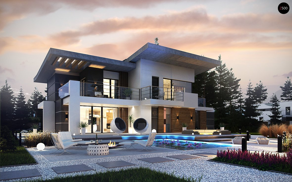 Проект дома Zx22 P - 1