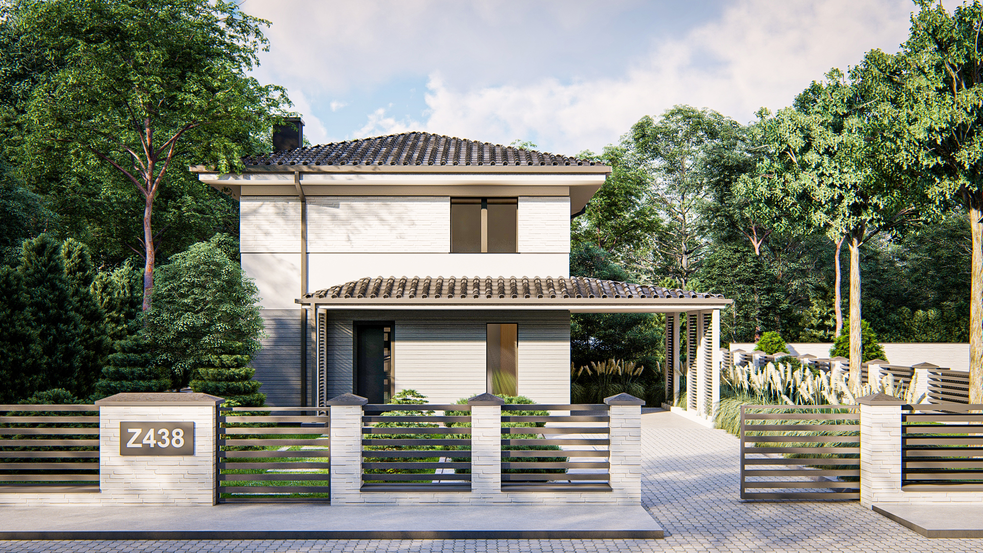 Проект дома Z438 - 1