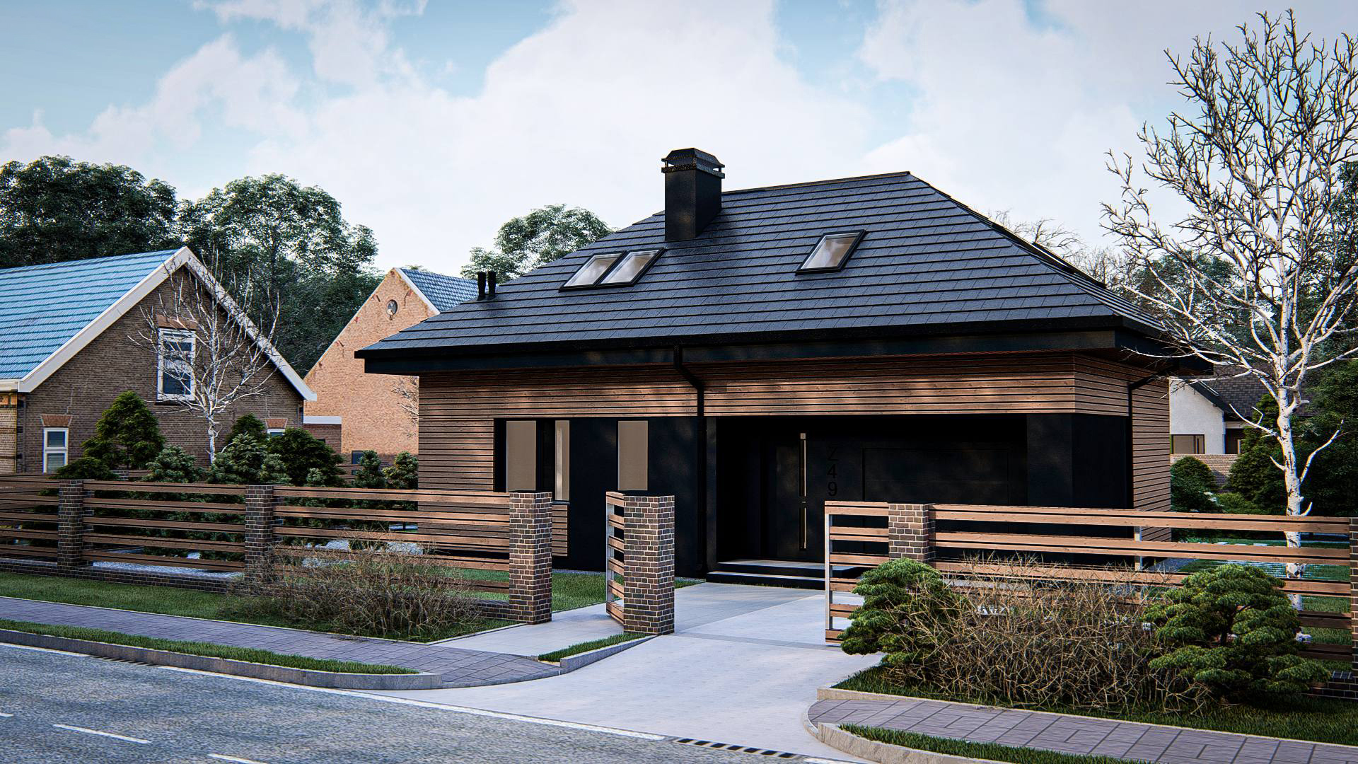 Проект дома Z491 - 1