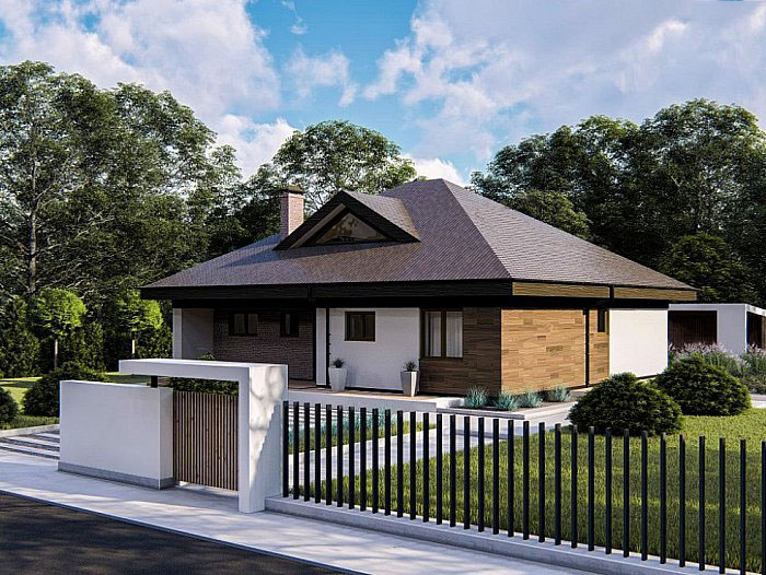 Проект дома Zz230 V1 - 1