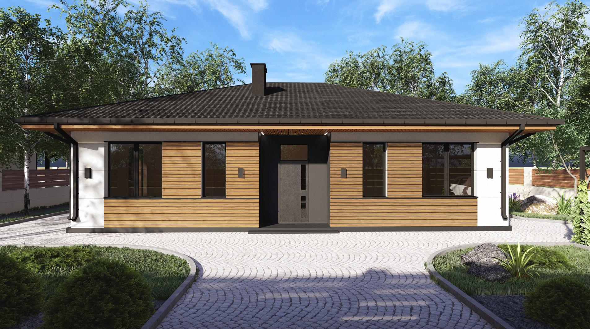 Проект дома DB12 v1 - 1