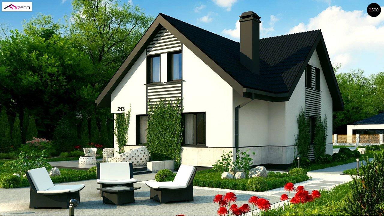 Проект классического мансардного дома 10х10 z13