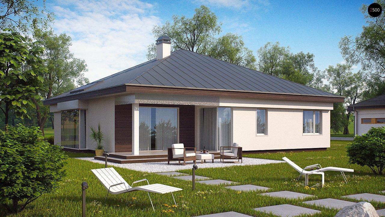 Проект одноэтажного дома с гаражом на 2 машины z200