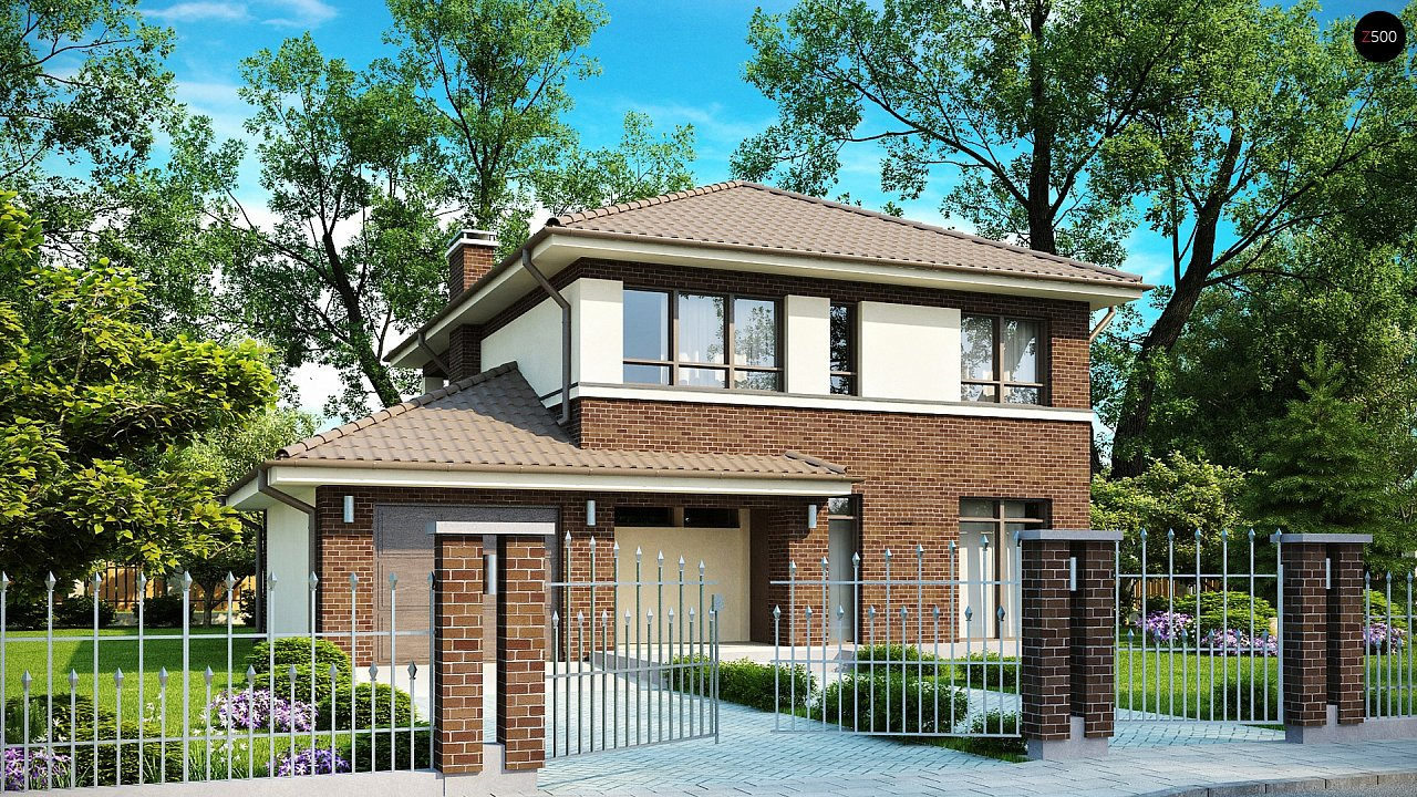 Проект дома в классическом стиле zx24