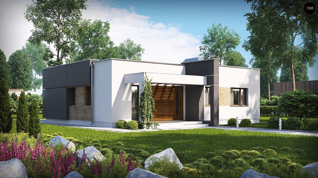 Проект современного одноэтажного дома 10х10 zx105