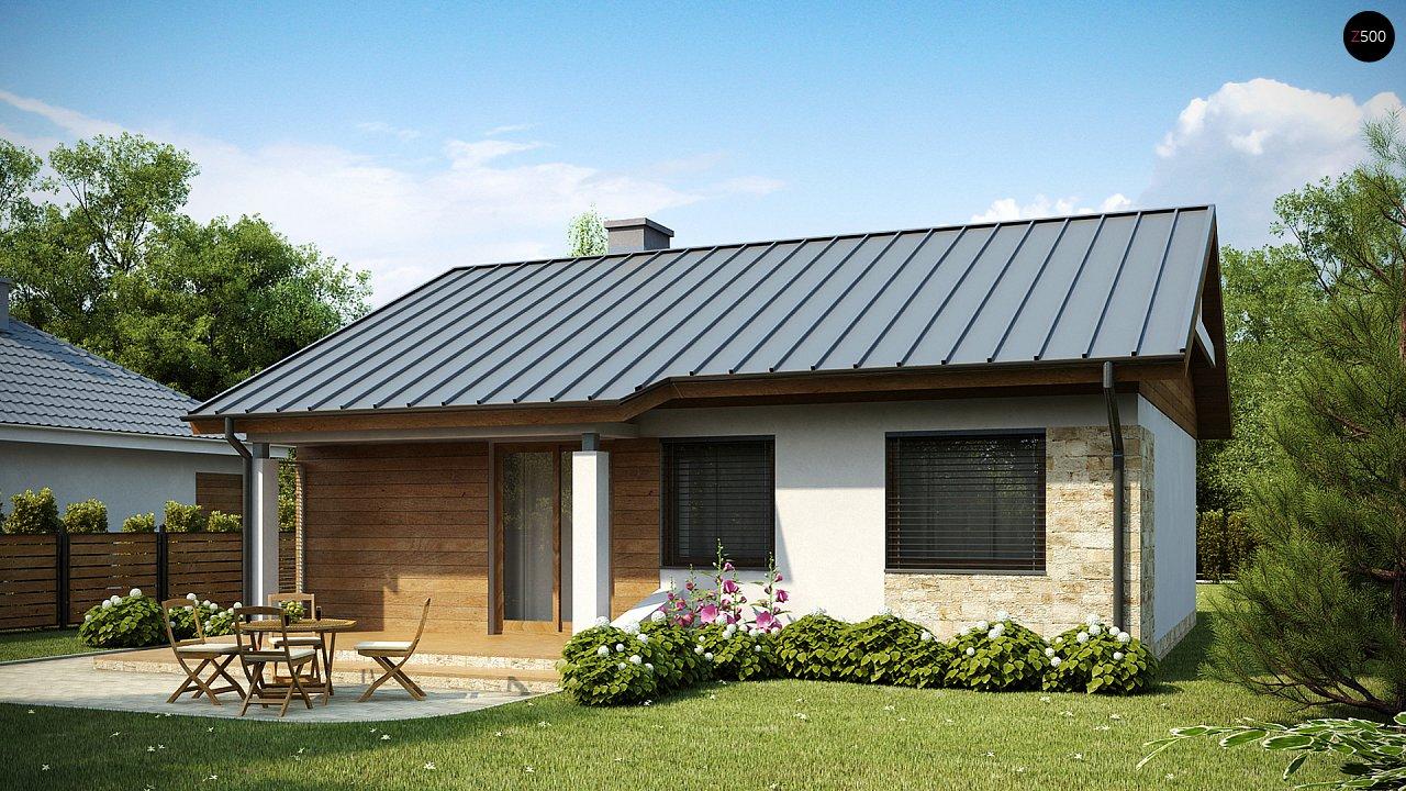 Проект одноэтажного классического дома 10х10 z78