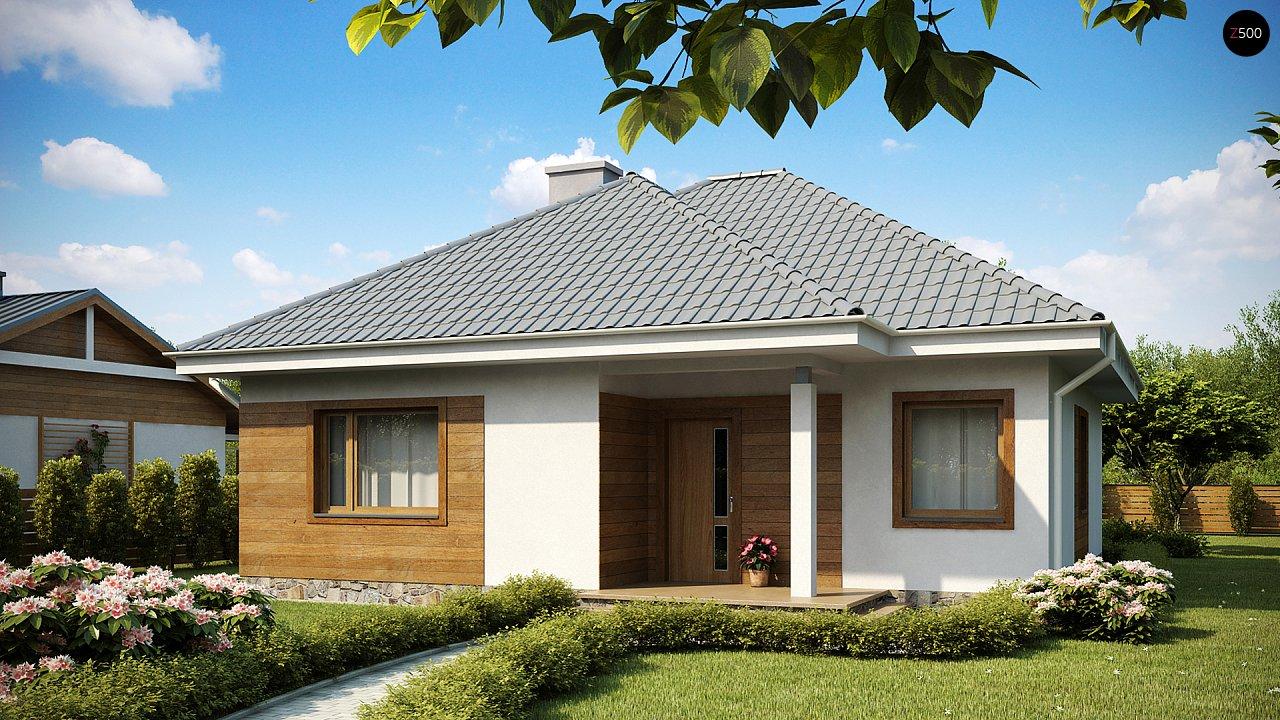 Проект классического одноэтажного дома 10х10 z64