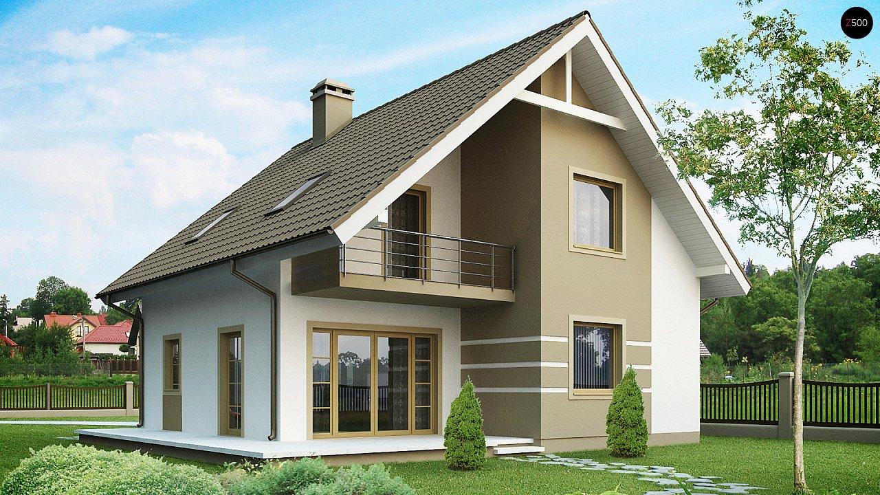 Проект классического дома с мансардой 10х10 z62