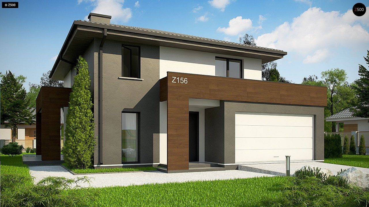 Проект дома Z156 A minus