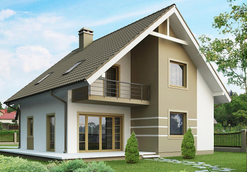 Проекты домов с двускатной крышей
