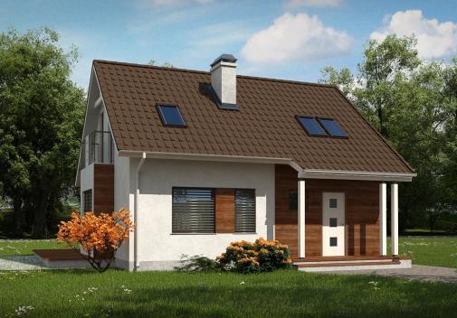 Проект дома Z101 L h+