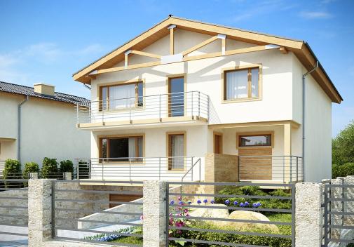 Проект дома с цоколем Z53