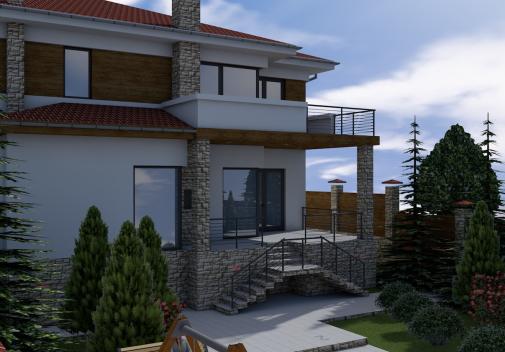 Проект дома с цоколем Db 3