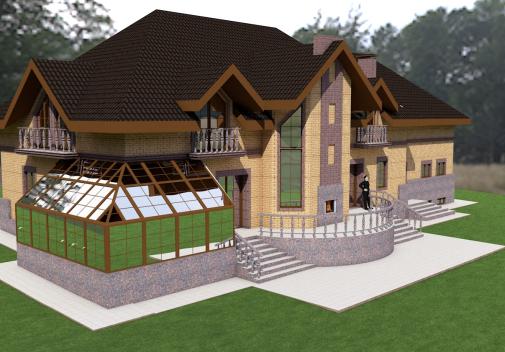 Проект дома с цоколем Db 2