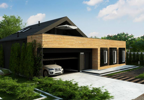 Проект дома для двух семей Z463