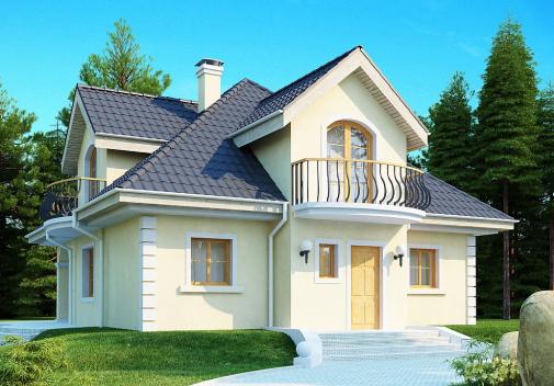 Проект дома со сложной крышей Z27