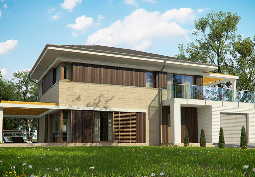 Проект дома Zx63 B +