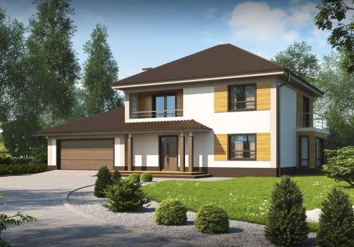 Проект дома Zx12 GL2 F