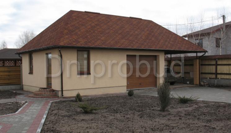 Гостевой дом с гаражом и навесом