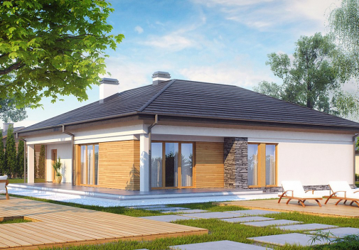 Проект дома со сложной крышей Z204