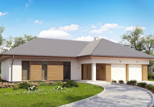 Проект дома со сложной крышей Z190