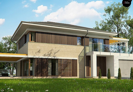 Проект дома с цоколем Zx63 B+P