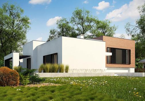 Проект одноэтажного дома Zx132
