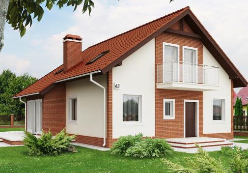 Проект дома для одной семьи Z63 S