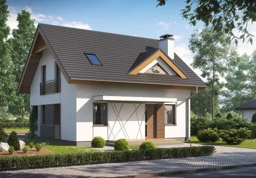 Проект дома со сложной крышей Z163 V1