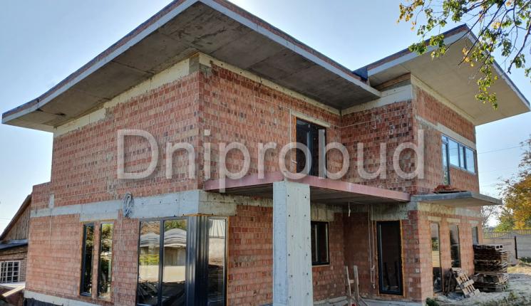 Дом с плоской кровлей в современном стиле