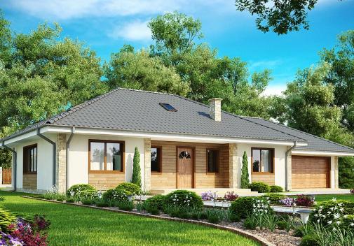 Проект дома со сложной крышей Z35
