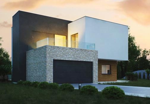 Проект дома с цоколем Zr17