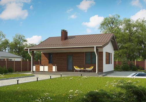 Проект дома с двускатной крышей Zp1