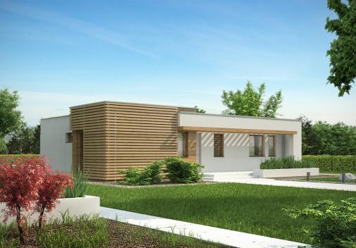 Проект дома с плоской крышей Zx53 v1
