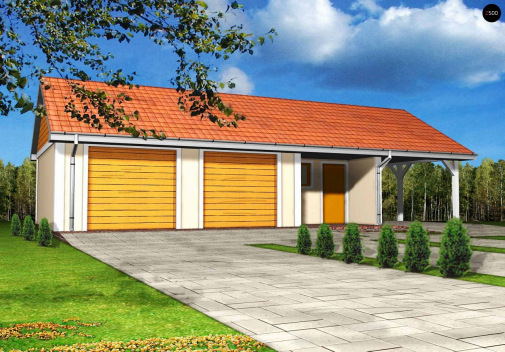 Проект дома с двускатной крышей Zg4