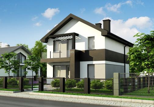 Проект дома для одной семьи Z372 +