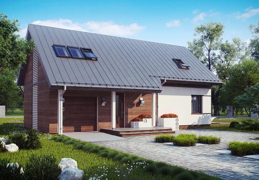 Проект дома с двускатной крышей Z226