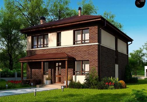 Проект двухэтажного дома Zx24 a v1