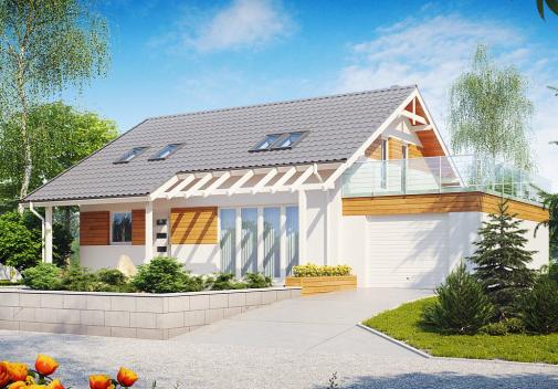 Проект дома с двускатной крышей Z36