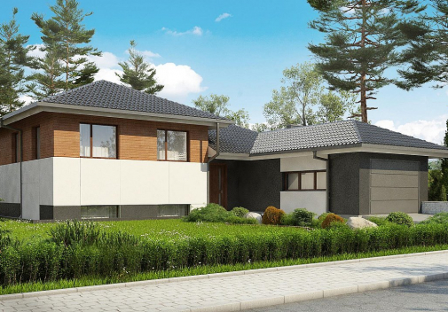 Проект дома с цоколем Z335