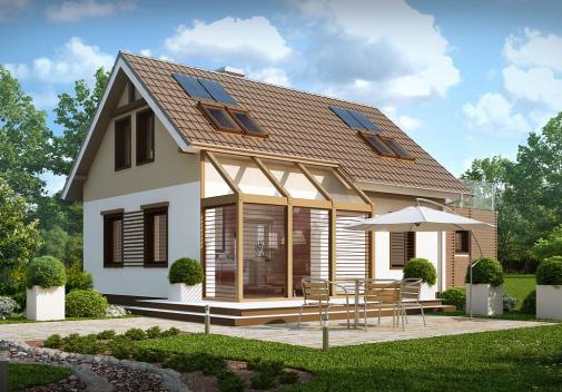 Проект дома с гаражом Z220
